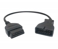 Переходник OBD 2 - GM / Daewoo 12-pin (GM-12P - OBDII 16P)